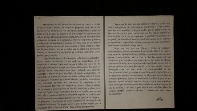 Alta Gracia Argentina February 08 2012 Letter correspondence between Che and Fidel Castro in the Che Guevara Museum in Alta Gracia Cordoba Argentina...