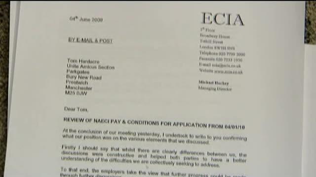 stockvideo's en b-roll-footage met letter from engineering construction industry association - harder
