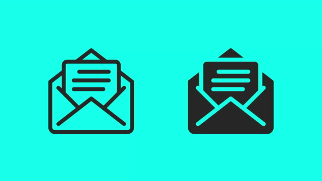 letter icons - vector animate - correspondence stock videos & royalty-free footage