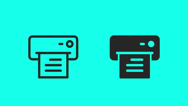 letter printer icons - vector animate - global communications vector stock videos & royalty-free footage