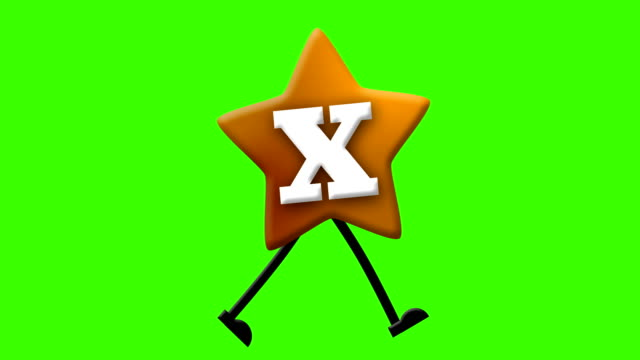 letter x in latin alphabet and walking character on greenscreen - letter x stock videos & royalty-free footage