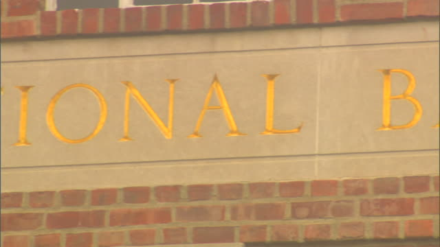 letterings on building national baseball hall of fame and museum - hall of fame stock videos and b-roll footage