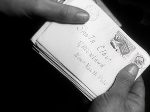 letters addressed to santa claus are checked at a postal sorting office - mail stock videos & royalty-free footage