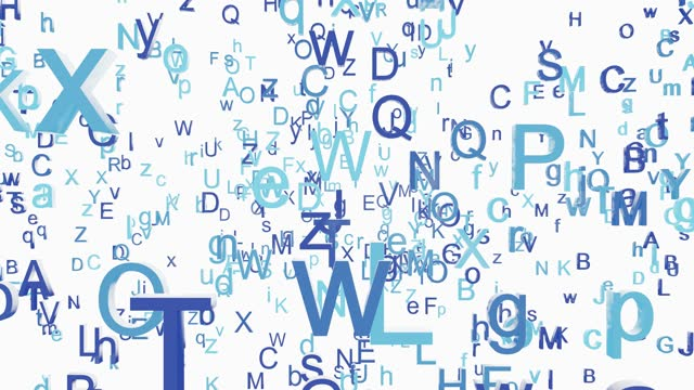 vídeos de stock, filmes e b-roll de letters of the alphabet flying towards the viewer - sopa de letras