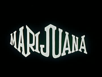 stockvideo's en b-roll-footage met 1969/1970 animation letters spelling 'marijuana' appearing one by one / turning colors / audio - drug gefabriceerd object
