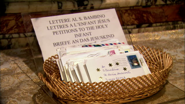 CU ZI Letters to Santo Bambino (infant Jesus) in church / Rome, Italy