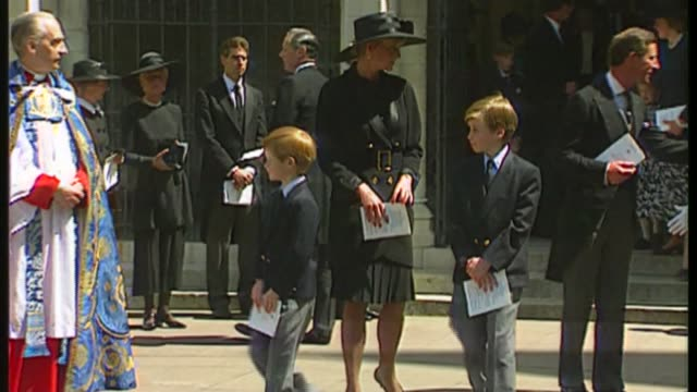 letters written by princess diana sell for 15 thousand pounds at auction; cutaway date and location unknown: ext princess diana, princ eof wales and... - funeral stock videos & royalty-free footage