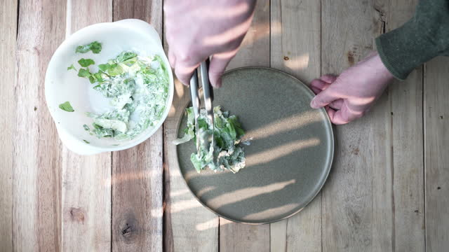 lettuce and mayonnaise - chopped lettuce stock videos & royalty-free footage