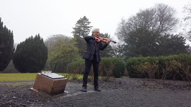 lev atlas, principal viola at scottish opera orchestra royal conservatoire of scotland, lights a candle and performs a short violin solo a new piece... - candle stock videos & royalty-free footage