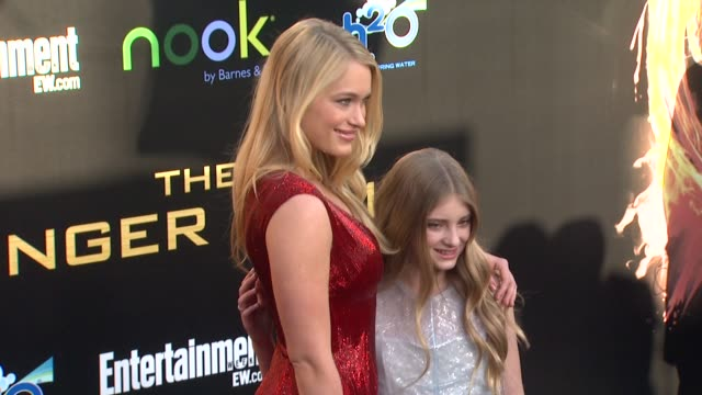 Leven Rambin and Willow Shields at The Hunger Games World Premiere on 3/12/2012 in Los Angeles CA