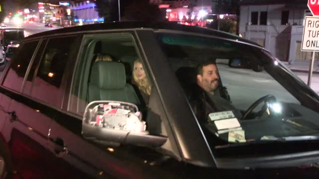 leven rambin shoshana bush depart chateau marmont in west hollywood in celebrity sightings in los angeles on 11/21/13 - shoshana bush stock-videos und b-roll-filmmaterial