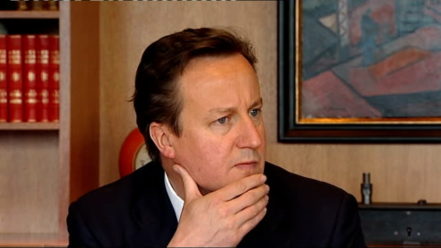leveson inquiry into media ethics and phone hacking david cameron to give evidence via reuters oslo int david cameron sitting with his hand on his... - reuters stock videos & royalty-free footage