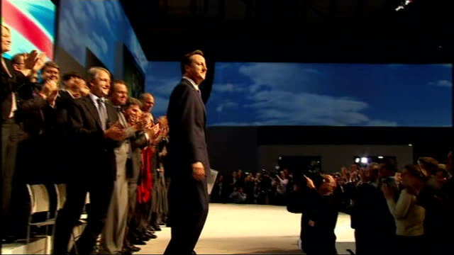 leveson inquiry into media ethics and phone hacking david cameron gives evidence lib photography *** david cameron onto stage at tory party... - conference phone stock videos & royalty-free footage