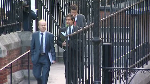 leveson inquiry into media ethics and phone hacking evidence by charlotte church anne diamond ext chris jefferies leaving court - anne diamond stock videos & royalty-free footage
