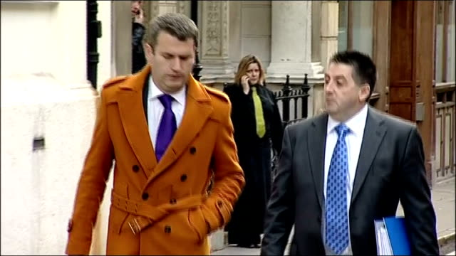 leveson inquiry into media ethics and phone hacking evidence by charlotte church anne diamond ian hurst arriving at inquiry - anne diamond stock videos & royalty-free footage