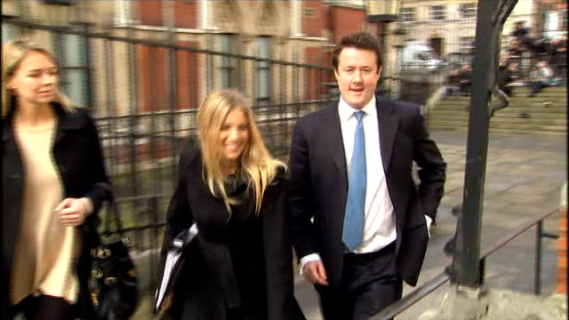 leveson inquiry into media ethics and phone hacking jk rowling and sienna miller testify high court sienna miller departing court - testimony stock videos & royalty-free footage