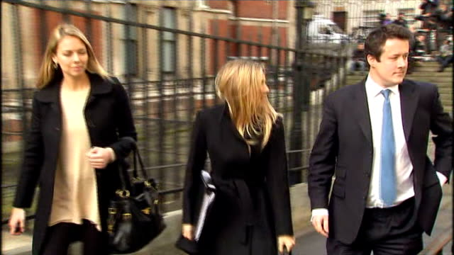 leveson inquiry into media ethics and phone hacking jk rowling and sienna miller testify ext sienna miller leaving high court with lawyer and... - j.k. rowling stock videos and b-roll footage