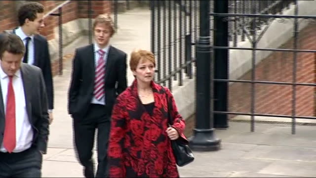 leveson inquiry into media ethics and phone hacking kelvin mackenzie gives evidence lib ext anne diamond arriving at inquiry - anne diamond stock videos & royalty-free footage