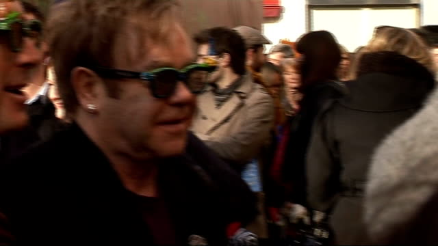 Leveson inquiry into media ethics and phone hacking Kelvin MacKenzie gives evidence LIB EXT Elton John on red carpet with partner David Furnish at...