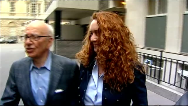 leveson inquiry into media ethics and phone hacking rebekah brooks gives evidence lib / tx london photography ** rupert murdoch towards through press... - rupert murdoch stock videos and b-roll footage