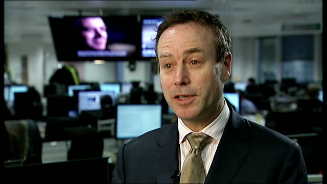 report published future for the press financial times int barber interview sot regulated tv broadcaster would not have published or broadcast the mps... - channel 4 news stock videos and b-roll footage