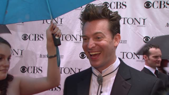 Levi Kreis talks about how he styles his hair for the evening jokes that it's not going to move all night On being part of the broadway community how...