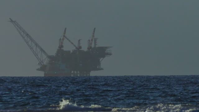 leviathan gas field is a large natural gas field located in the mediterranean sea - 地中海点の映像素材/bロール
