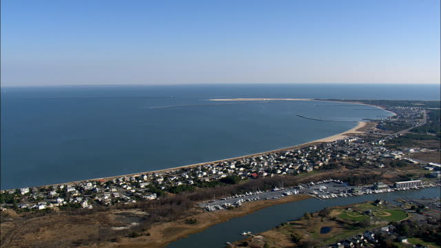 Lewes And Inner Harbour  - Aerial View - Delaware,  Sussex County,  United States