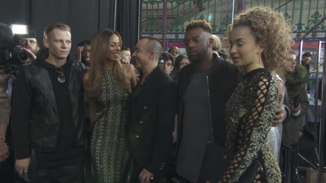 lewi morgan, ella eyre, rochelle humes, jb gill, julien macdonlad at julien macdonald ss16 at smithfields market on september 19, 2015 in london,... - gill stock videos & royalty-free footage