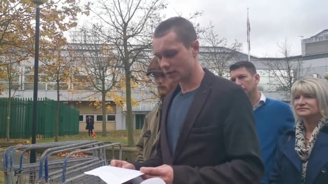 lewis burdett the son of sarah wellgreen who was murdered by her expartner gives a statement outside woolwich crown court after ben lacomba was... - beautician stock videos & royalty-free footage