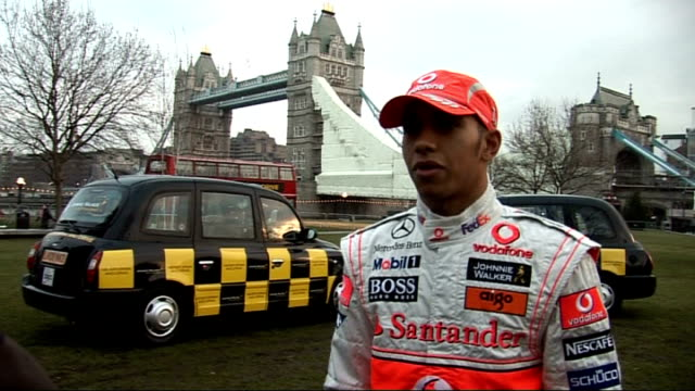 lewis hamilton and mika hakkinen launch anti drinkdrive campaign lewis hamilton interview sot saying it's a great campiagn to be part of / get... - world championship stock videos & royalty-free footage