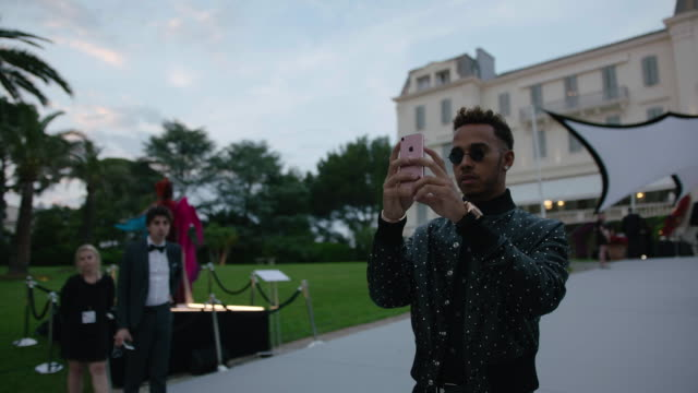 Lewis Hamilton at amfAR Gala Cannes 2017 at Hotel du CapEdenRoc on May 25 2017 in Cap d'Antibes France