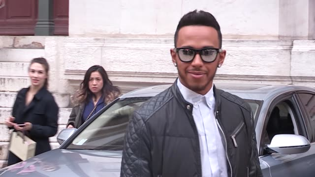 lewis hamilton at stella mccartney pret a porter fashion week 2016 on march 07 2016 in paris france - stella mccartney marchio di design video stock e b–roll