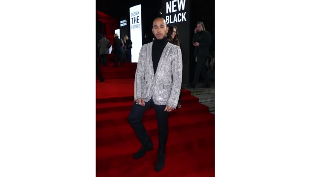 lewis hamilton at the royal albert hall for the london fashion awards on december 2 2019 in london england - fashion stock videos & royalty-free footage