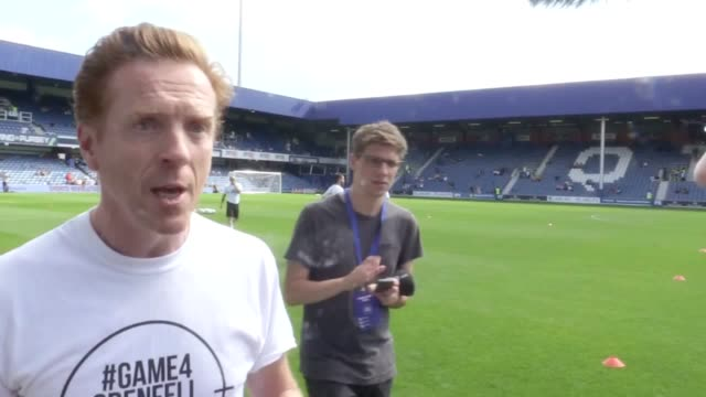 Lewis who grew up near Grenfell Tower will be playing alongside stars including Sir Mo Farah Olly Murs Tinie Tempah and Alan Shearer at Loftus Road...