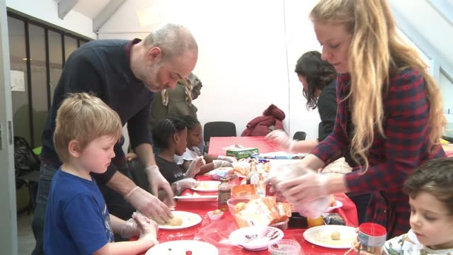 lewisham celebrates the arts ahead of its year as london borough of culture uk london children and adults doing activites in the albany centre in... - child stock videos & royalty-free footage