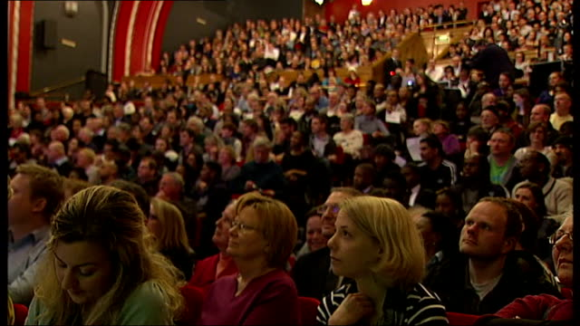 lewisham hospital campaigners confront boris johnson at 'question and answer' session; 7.3.2013 england: london: lewisham: catford: int boris johnson... - applauding stock videos & royalty-free footage
