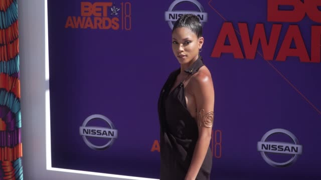 Lex Scott Davis at the 2018 BET Awards at Microsoft Theater on June 24 2018 in Los Angeles California
