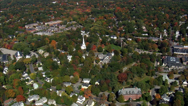 lexington  - aerial view - massachusetts,  middlesex county,  united states - kentucky stock videos & royalty-free footage