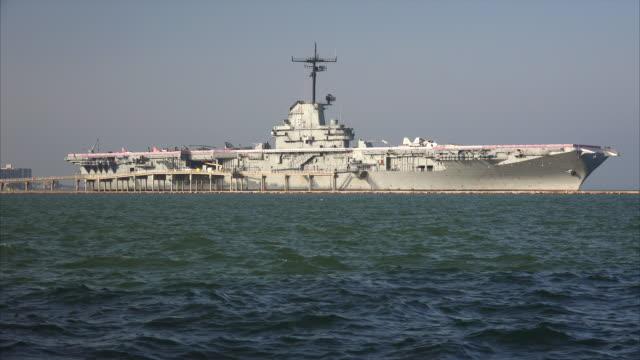 uss lexington aircraft carrier museum in corpus christi, texas - corpus christi texas stock videos & royalty-free footage