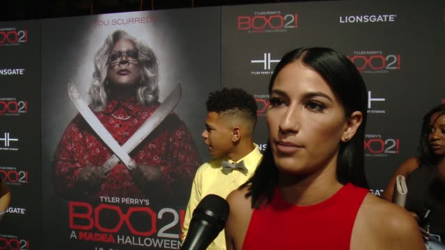 """INTERVIEW Lexy Panterra on the premiere at Lionsgate Presents the Los Angeles Premiere of Tyler Perry's """"Boo 2 A Madea Halloween"""" in Los Angeles CA"""