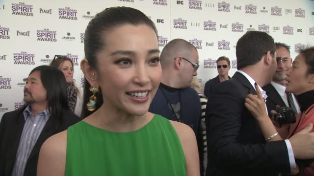 li bing bing on the event at piaget at the 2012 film independent spirit awards on 2/25/12 in los angeles, ca - independent feature project stock videos & royalty-free footage