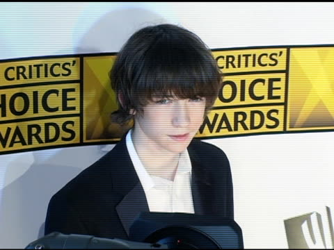 liam aiken at the 2005 critics' choice awards at the wiltern theater in los angeles, california on january 10, 2005. - critics' choice movie awards stock videos & royalty-free footage