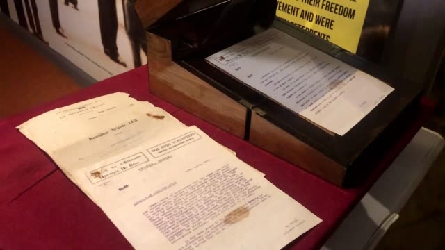 liam bradley, curator of the monaghan county museum, showcases materials from the monaghan war of independence files. the files include more than 500... - curator stock videos & royalty-free footage