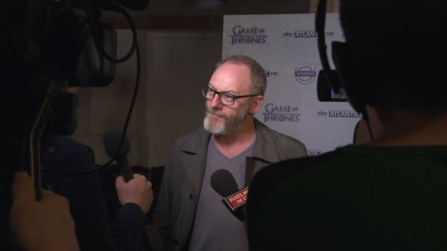 liam cunningham at 'game of thrones' season 4 press launch at the guildhall on march 24 2014 in london england - liam cunningham stock videos & royalty-free footage