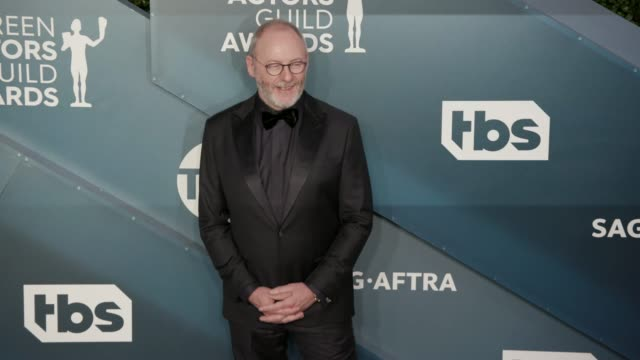liam cunningham at the 26th annual screen actorsguild awards arrivals at the shrine auditorium on january 19 2020 in los angeles california - liam cunningham stock videos & royalty-free footage