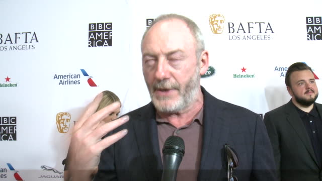 interview liam cunningham at the beverly hilton hotel on september 21 2019 in beverly hills california - liam cunningham stock videos & royalty-free footage