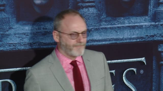 liam cunningham at the game of thrones season 6 los angeles premiere at tcl chinese theatre on april 10 2016 in hollywood california - liam cunningham stock videos & royalty-free footage