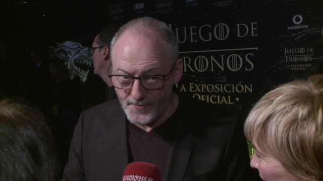 liam cunningham attends 'game of thrones' official exhibition premiere in madrid - liam cunningham stock videos & royalty-free footage