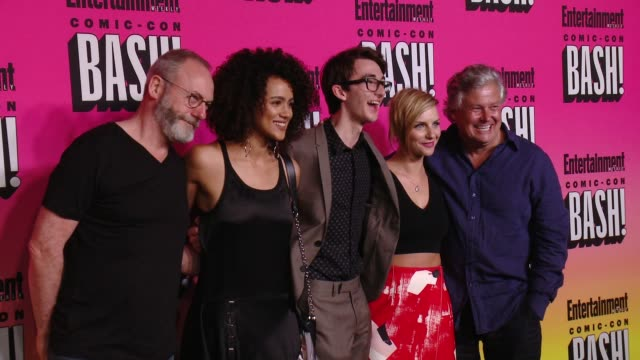 liam cunningham nathalie emmanuel isaac hempstead wright faye marsay conleth hill at entertainment weekly hosts annual comiccon celebration in san... - liam cunningham stock videos & royalty-free footage